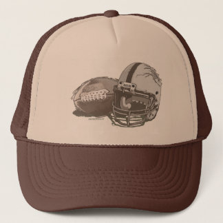 Football and Helmet by Mudge Studios Trucker Hat