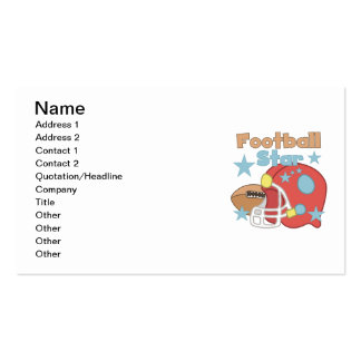 Football and Helmet Football Star T-shirts Business Card Template