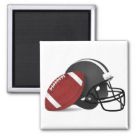 Football And Helmet Magnet