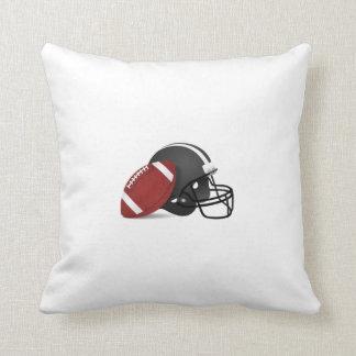 Football and Helmet Throw Pillow