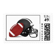 Football And Helmet Postage
