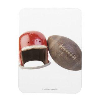 Football and helmet magnet