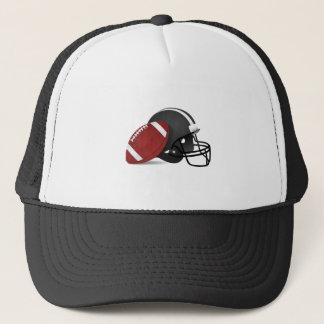 Football and Helmet Trucker Hat