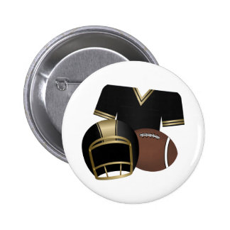 Football and Jersey and Helmet Pinback Button