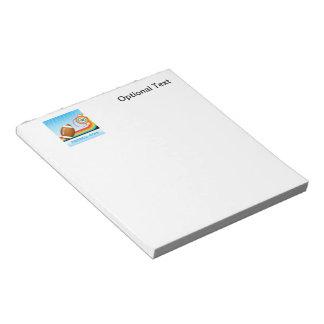 Football and Rainbow Stripe FOOTBALL Star Notepad