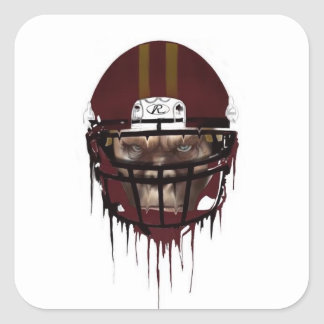 Football ape square sticker