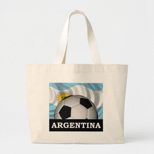 Football Argentina Large Tote Bag