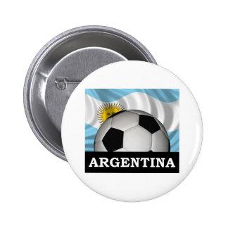 Football Argentina Pinback Button