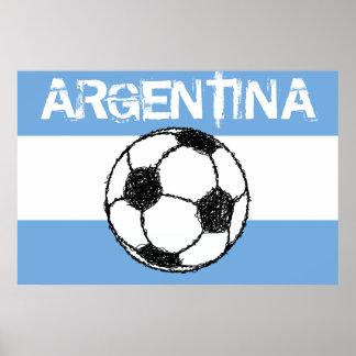 Football, Argentina Poster