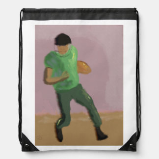 Football Art Drawstring Backpack