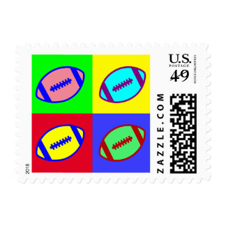 Football Art Stamps