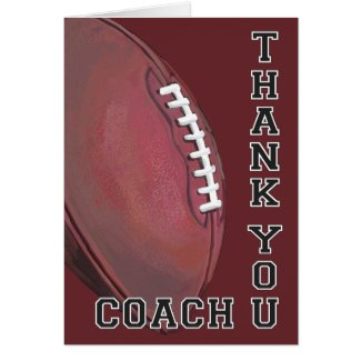 Football Art Thank You Coach Greeting Card