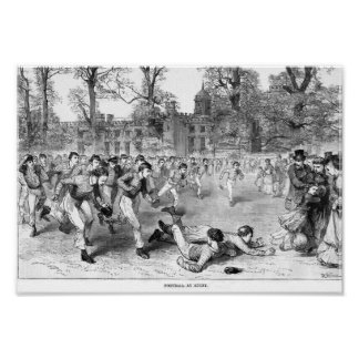 Football At Rugby School - Poster