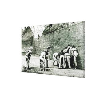 Football at the Wall at Eton Canvas Print