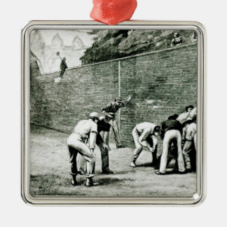 Football at the Wall at Eton Metal Ornament