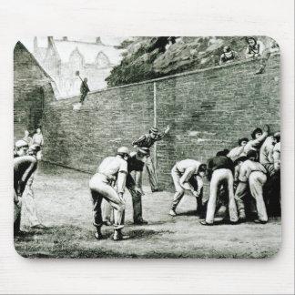 Football at the Wall at Eton Mouse Pad