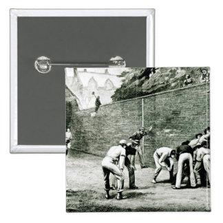 Football at the Wall at Eton Pinback Button