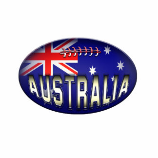 Football Australian Flag Ornament Acrylic Cut Outs