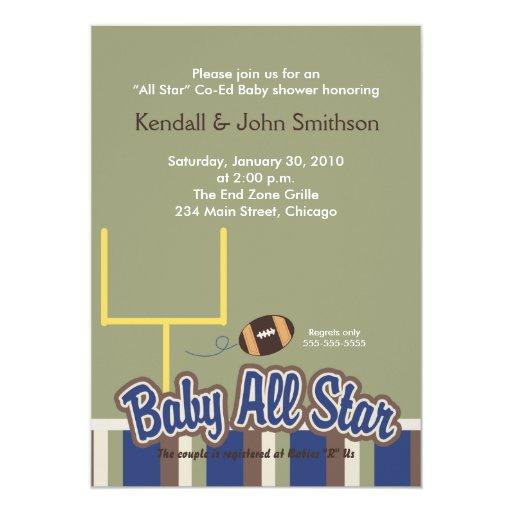 FOOTBALL Baby All Stars Baby Shower Invitation #1