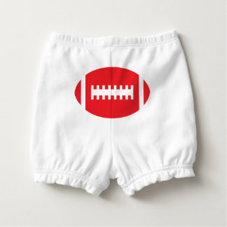FOOTBALL Baby Backside | Red Sports Football Diaper Cover
