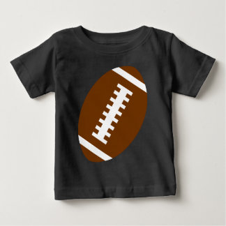 FOOTBALL BABY Black | Front Football Graphic Baby T-Shirt