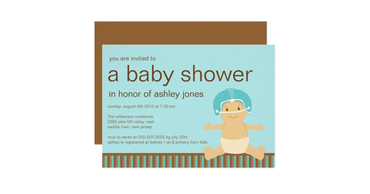 football baby boy baby shower invitation zazzle