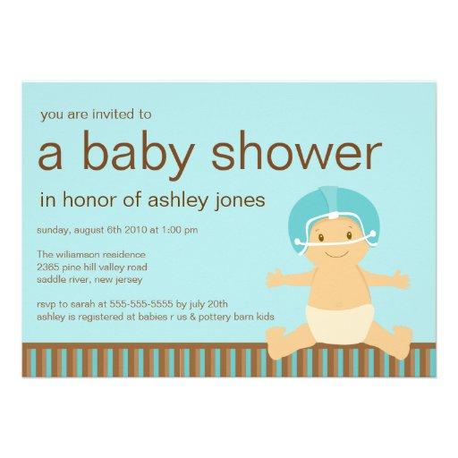 football baby boy baby shower invitation 5 x 7 invitation card