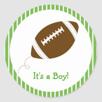 Football Baby Boy Envelope Seals Stickers