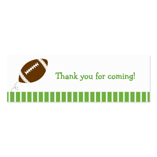 Football Baby Boy Goodie Bag Tags Gift Tags Double-Sided Mini Business Cards (Pack Of 20)