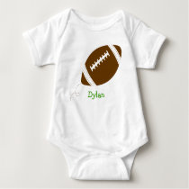 Football Baby Boy Personalized Baby T-Shirt