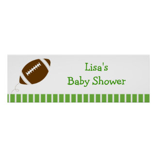 Football Baby Boy Personalized Banner Sign Print
