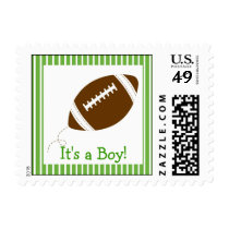 Football Baby Boy Personalized Postage Stamps