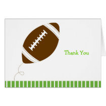 Football Baby Boy Thank You Note Cards