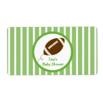 Football Baby Boy Water Bottle Stickers Labels