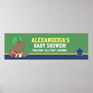 Football Baby Custom Baby Shower Banner Print