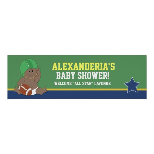 Football Baby Custom Baby Shower Banner Print