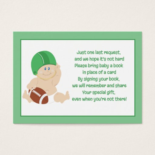 Football Baby Enclosure Book Request Cards