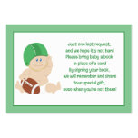 Football Baby Enclosure Book Request Cards Large Business Cards (Pack Of 100)