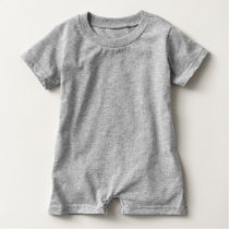 FOOTBALL BABY Gray | Front Football Graphic Baby Romper