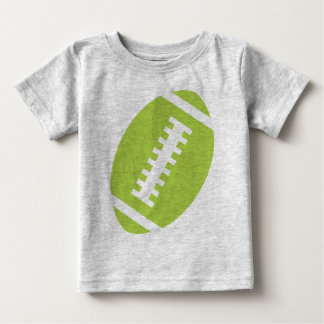 FOOTBALL BABY Gray | Front Lime Green Football T Shirts