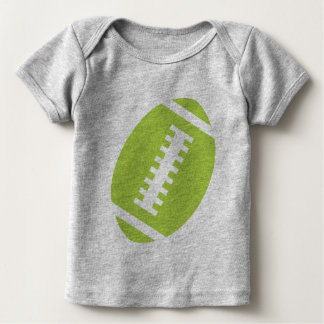 FOOTBALL BABY Gray | Front Lime Green Football Tshirts