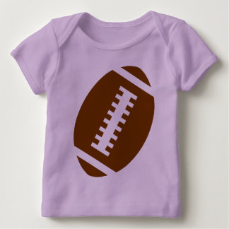 FOOTBALL BABY Lavender | Front Football Graphic Baby T-Shirt