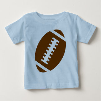 FOOTBALL BABY Light Blue | Front Football Graphic Baby T-Shirt