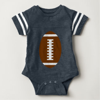 FOOTBALL BABY Navy Blue | Front Football Graphic Baby Bodysuit