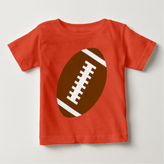 FOOTBALL BABY Orange | Front Football Graphic Baby T-Shirt