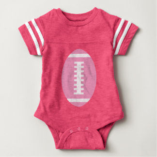 FOOTBALL BABY Pink | Front Pink Football Graphic Baby Bodysuit