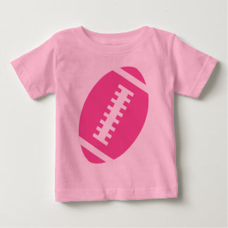 FOOTBALL BABY Pink | Front Pink Football Graphic Baby T-Shirt