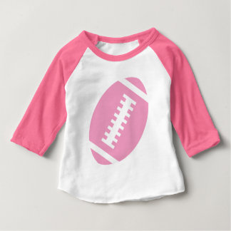 FOOTBALL BABY Pink | Front Pink Football Graphic T Shirt