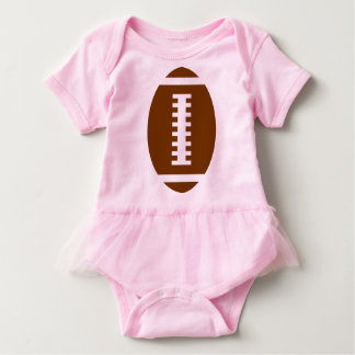 FOOTBALL BABY Pink Tutu | Front Football Graphic Baby Bodysuit