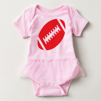 FOOTBALL BABY Pink Tutu | Front Red Football Infant Onesie